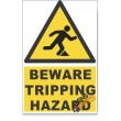 Tripping, Beware Hazard Descriptive Safety Sign