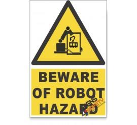 Beware Of Robot, Beware Hazard Descriptive Safety Sign