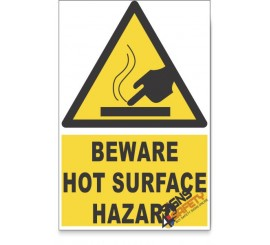 Hot Surface, Beware Hazard Descriptive Safety Sign