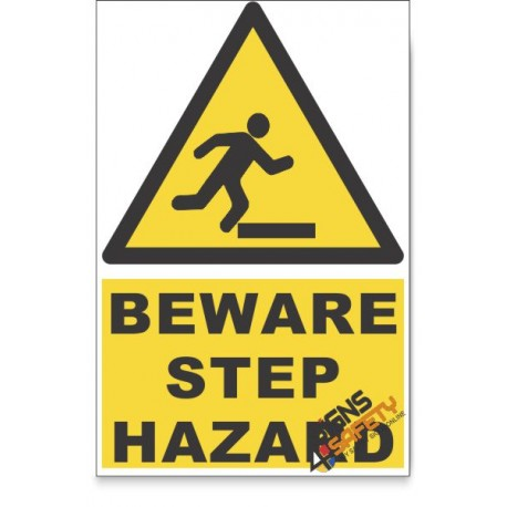 Mind The Step, Beware Hazard Descriptive Safety Sign