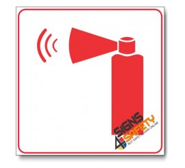 Handheld Fire Alarm Sign