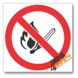 (PSC-F1) No Open Flame Sign