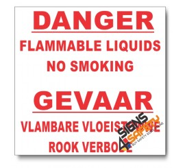 (PSC-F5) Danger Flammable Liquids Sign
