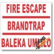 (PSC-F6) Fire Escape Route Sign