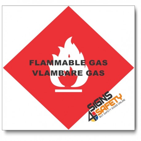 (PSC-F9) Flammable Gas Sign