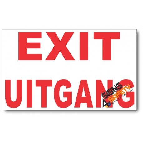(PSC-F12) Exit Sign