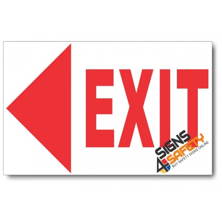 (PSC-F13) Exit Left Sign