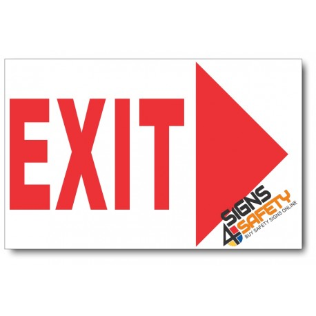 (PSC-F14) Exit Right Sign