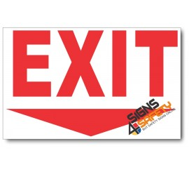(PSC-F15) Exit Ahead Sign