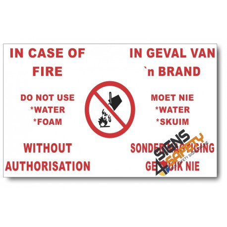 (PSC-F17) In Case Of Fire Sign