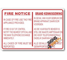 (PSC-F18) Fire Notice Sign