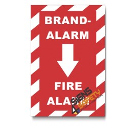 (PSC-F19) Fire Alarm Chevron Sign