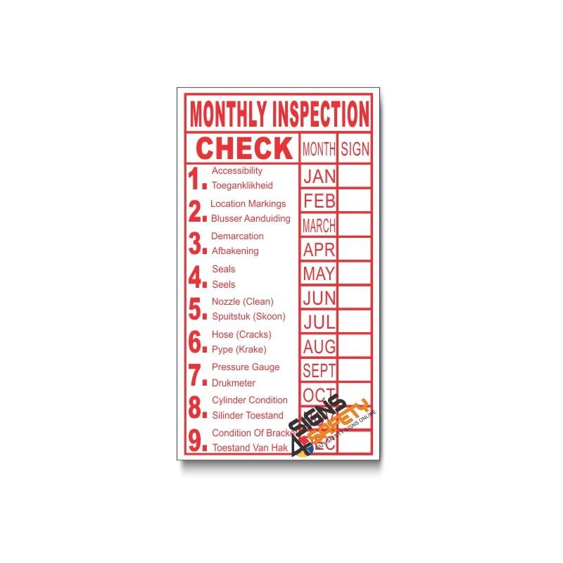 PSC F22 Fire Hydrant Extinghuiser Checklist