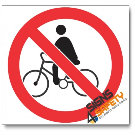 (PV7) No Cycling Sign