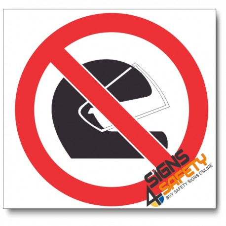 (PV18) No Helmets Sign