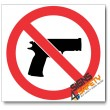 (PV19) No Firearms Sign