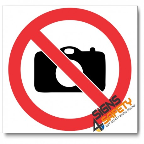 (PV21) No Cameras Sign