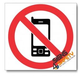 (PV27) No Cellphones Sign