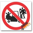 (PV29) No Lifting On Forklift Sign