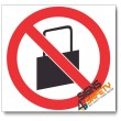 (PV31) No Handbags Sign