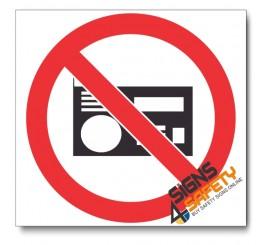 (PV36) No Loud Music Sign
