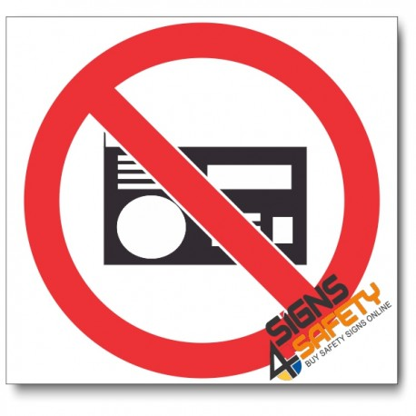 (PV36) No Loud Music Sign