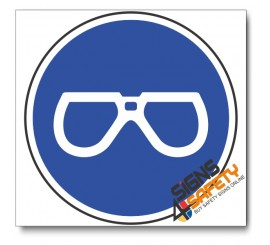 (MV1) Eye Protection Mandatory Sign
