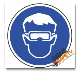 (MV1A) Eye Protection Mandatory Sign