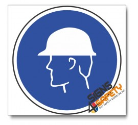 (MV3A) Head Protection Mandatory Sign