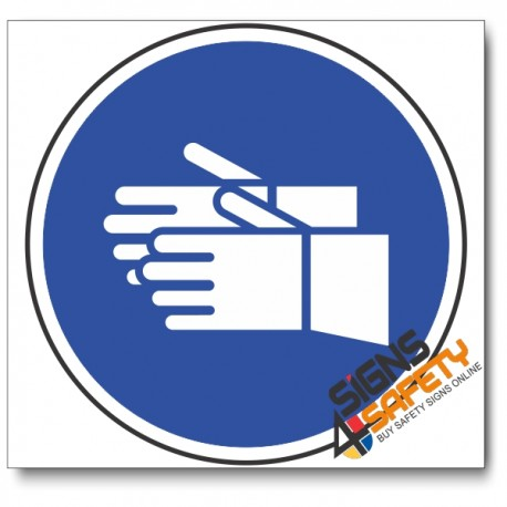 (MV5) Hand Protection Mandatory Sign