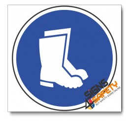 (MV6) Foot And Leg Protection Mandatory Sign