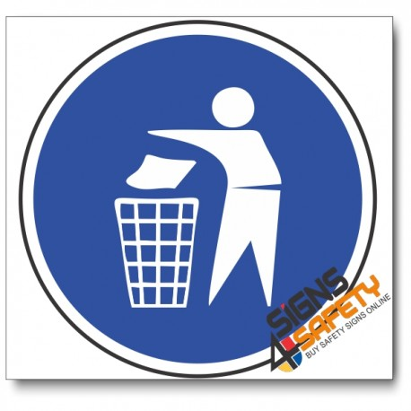 (MV14) Keep Area Clean Mandatory Sign