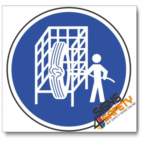 (MV16) Safety Cage Mandatory Sign