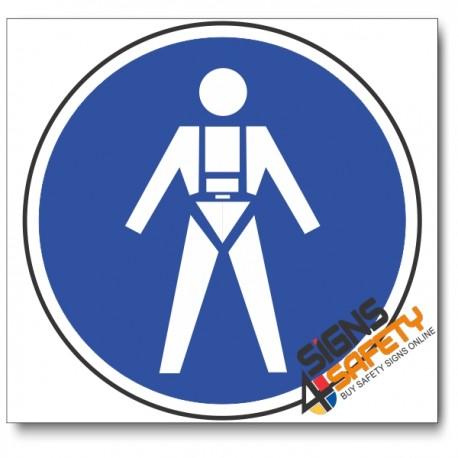 (MV18) Full Body Harness / Lifelines Mandatory Sign