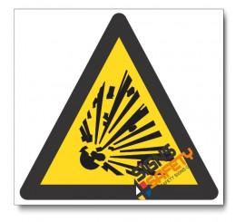 (WW3) Explosion Hazard Sign