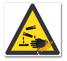 (WW4) Corrosive Hazard Sign