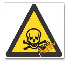 (WW5) Poisonous Substance Hazard Sign