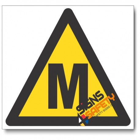 Methane Hazard Sign