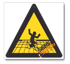 Fragile Surface Hazard Sign