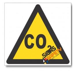 Carbon Dioxide Hazard Sign