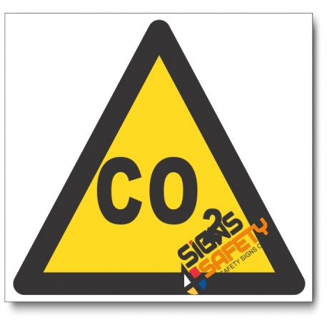 Carbon Dioxide Hazard Sign