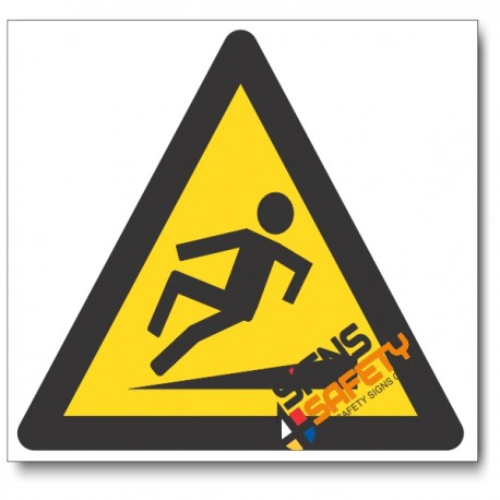Slippery Walking Surface Hazard Sign