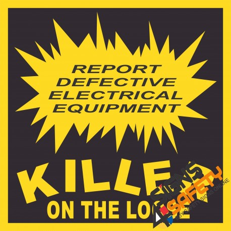(E19) Report Defective Equipment Electrical Sign