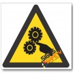 Moving Machinery Hazard Sign