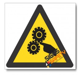 Moving Machinery Hazard Sign