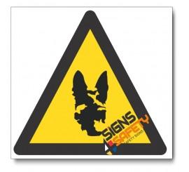 Beware Of Dog Hazard Sign
