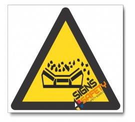 Falling Material From Conveyor Belt Hazard Sign