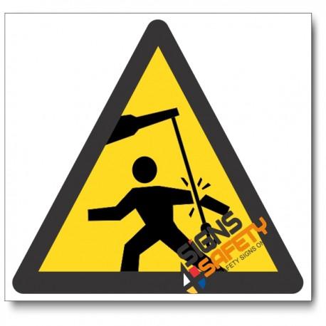 Swinging Objects Hazard Sign