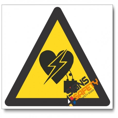 Electromagnetic Interference On Heart Pacemaker Hazard Sign