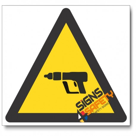 Nail Gun Hazard Sign